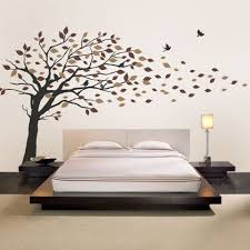 wall decals for dining room blowing leaves tree decal