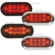 grote led trailer lights grote industries led oval tail lights west marine