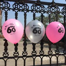60th birthday party decorations happy 60th birthday party decoration balloons pink fuchsia