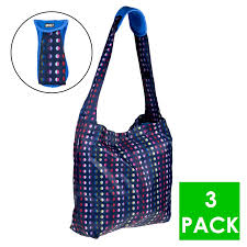 Eco Bag by 3pk Built Ny Reusable Shoppers Neoprene Shoulder Pad Packable