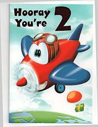birthday card for two 2 year old boy or free 1st class