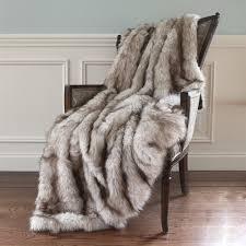 Fox Fur Blanket Best Home Fashion Wild Mannered Champagne Fox Faux Fur Throw