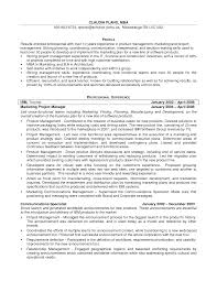 Resume Samples Product Manager by Resume Samples For Marketing Manager Of Products
