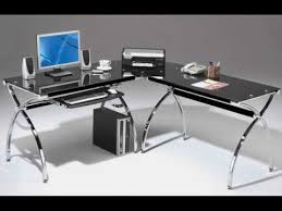 Small Corner Desk Homebase Black Glass Computer Desk With Drawers Uk Youtube