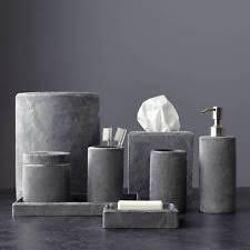 White Bathroom Accessories Set by Kassatex Bath Accessory Set Ebay