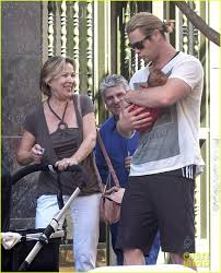 mother in law daughter in law relationship chris hemsworth his daughter mother in law u0026 wife out in madrid