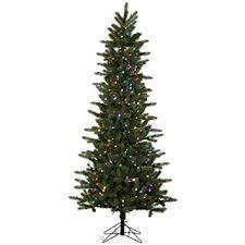 slim christmas tree with led colored lights amazon com vickerman kennedy fir slim artificial christmas tree