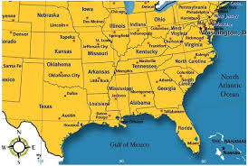 map of united states showing states and cities wall map of northeast region united states map south usa cities