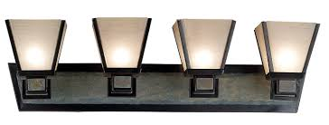 Mission Style Bathroom Vanity Lighting Kenroy Home 91603orb Clean Slate 3 Light Vanity Oil Rubbed Bronze