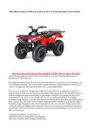 bayou 220 250 klf220 klf250 kawasaki service manual u2013 cyclepedia