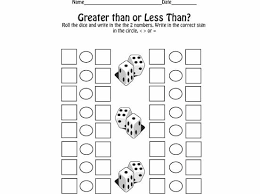 greater than less than fractions worksheets using less and