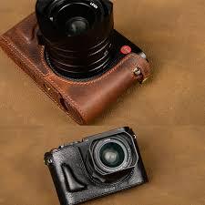 leica bags vr handmade genuine leather half for leica q