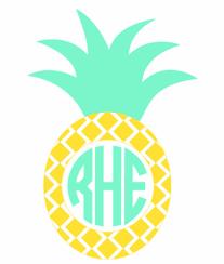 monogram decals pineapple monogram vinyl decal various sizes dixieland monogram