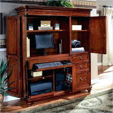 Wood Computer Desk For Home Office Desk Armoire Gorgeous Wooden Computer Plus Shelves And