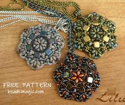 beaded pendant necklace designs images Pendant pattern beads magic jpg