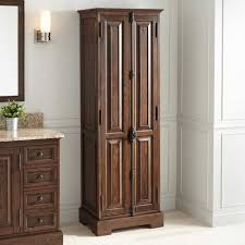Bathroom Linen Storage Cabinets Chelles Bathroom Linen Storage Cabinet Antique Coffee Linen