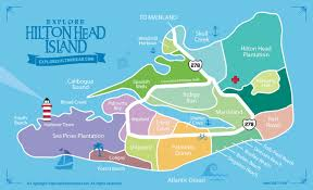 Map Of Beaufort Sc Hilton Head Island Maps Guide To Local Attractions And Hilton