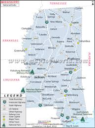 Jackson Ms Map Mississippi National Parks Map