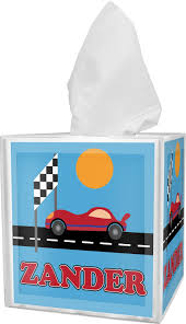 race car tissue box cover personalized potty scotty