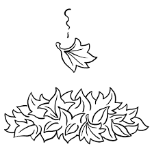 fall leaf coloring pages
