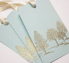 Wedding Wish Tags Tree Wedding Wish Tree Tags Gift Tags Favor Tags Gold Embossed