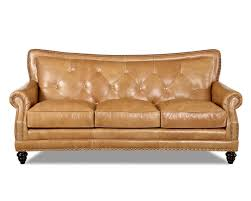 Furniture Elegant Full Grain Leather Sofa For Luxury Living Room - Full leather sofas