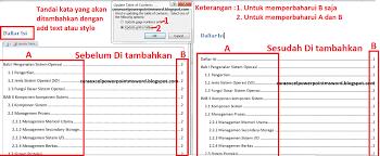 cara membuat garis pada daftar isi makalah cara membuat daftar isi otomatis di ms word 2010 mudah dan cepat
