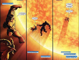 scans of superman flying into the sun superman vine