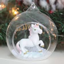ornaments unicorn ornament personalised