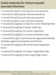 top 8 clinical research associate resume samples