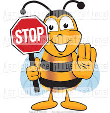 agriculture clipart of a honey bee mascot cartoon character