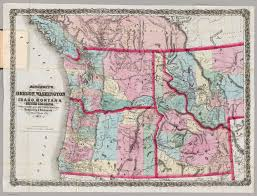 Montana County Map by Bancroft U0027s Map Of Oregon Washington Idaho Montana And British