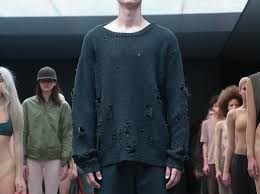 yeezy sweater kanye wears adidas x yeezy season 1 ripped sweater 1