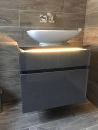 the bath co camberley satin grey vanity unit with basin 800mm
