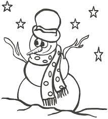 snowman coloring u2013 snowman christmas coloring pages