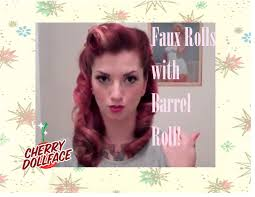 vintage hair faux victory rolls vintage hair tutorial by cherry dollface