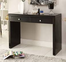 black glass lamp table black glass mirrored console hallway dressing table mirror