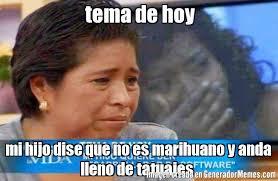 Memes De Marihuanos - tema de hoy mi hijo dise que no es marihuano y anda lleno de