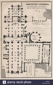 Cathedral Floor Plan Worcester Cathedral Floor Plan Worcestershire Baedeker 1927 Old