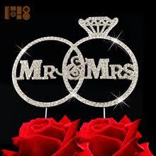 ring cake topper popular wedding cake topper mr and mrs ring buy cheap wedding cake