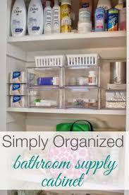 organized bathroom ideas best 25 organize bathroom closet ideas on medication