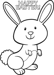 free easter bunny coloring pages to print u2013 happy easter 2017