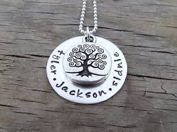 personalized family tree necklace sted family tree necklace sterling silver necklace