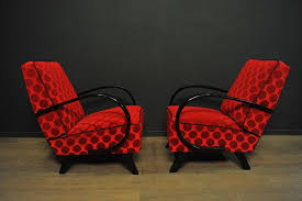 Red Armchairs For Sale Red Armchairs By Jindrich Halabala For Thonet 1940s Set Of 2 For