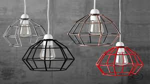 wire cage l shade industrial vintage style hanging pendant light fixture brass metal