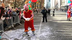 new york city ny november 24 roller skating clowns in macy s