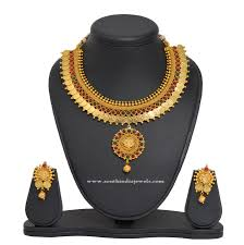 Buy Designer Gold Plated Golden Gold Plated Kasumalai Set Gold Design And South Indian Jewellery