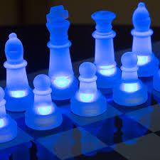 Chess Set Lumisource Led Glow Chess Set Walmart Com