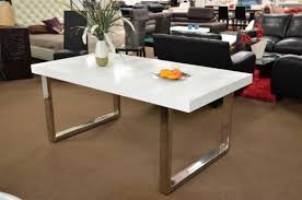 a u0026x skyline white gloss extendable dining table
