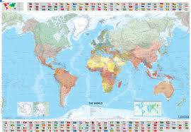 World Wall Map by The World Michelin Laminated Wall Map Michelin Maps U0026 Guides